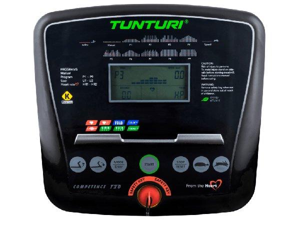 Běžecký pás Tunturi T20 detail počítače