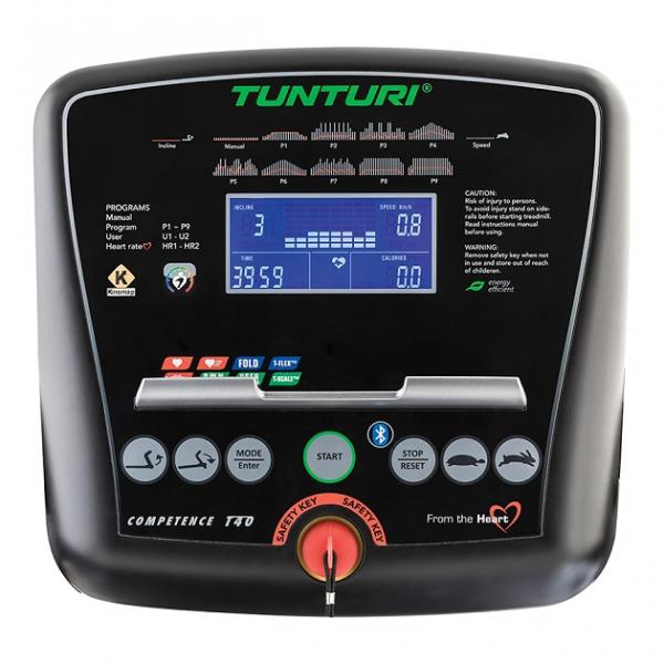 Běžecký pás Tunturi T40 detail počítače
