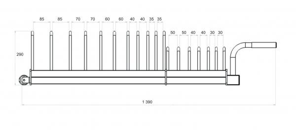 TRINFIT Plate Rack rozměry czg