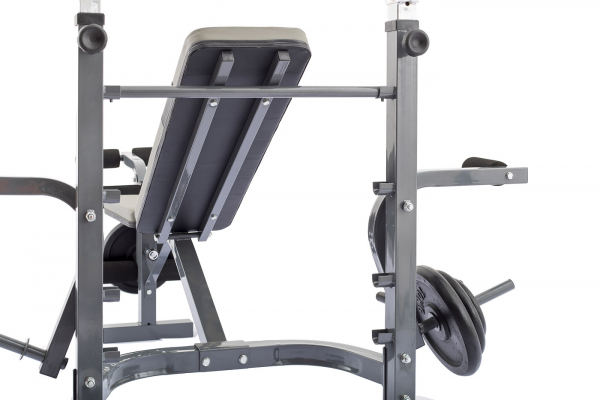Posilovací lavice na bench press TRINFIT Bench FX3 detail opěrkag