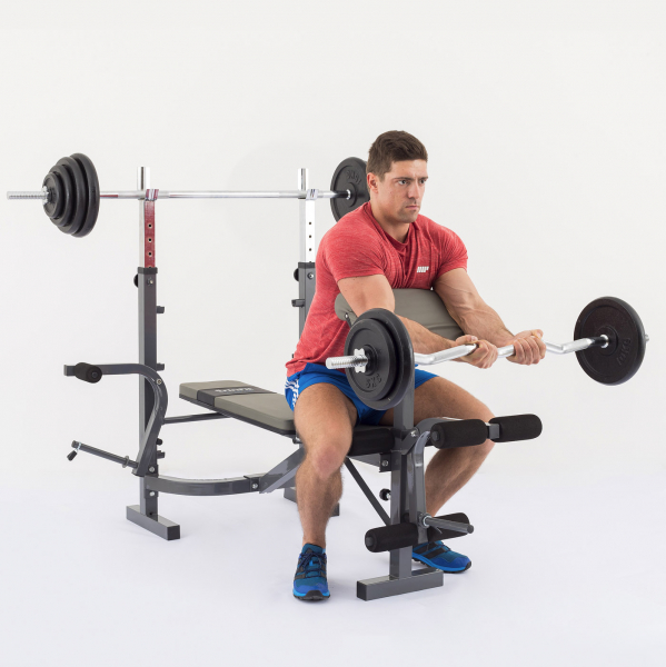 Posilovací lavice na bench press TRINFIT Bench FX3 cvik bicepsg