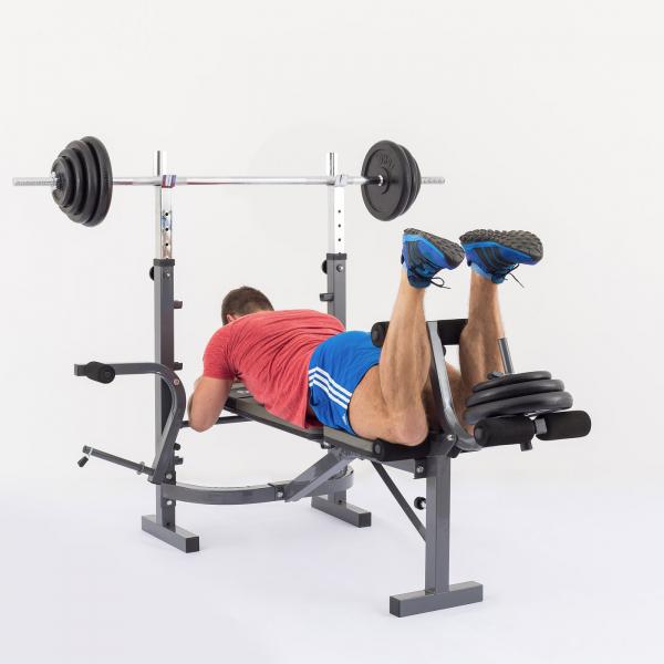 Posilovací lavice na bench press TRINFIT Bench FX3 cvik zanožováníg