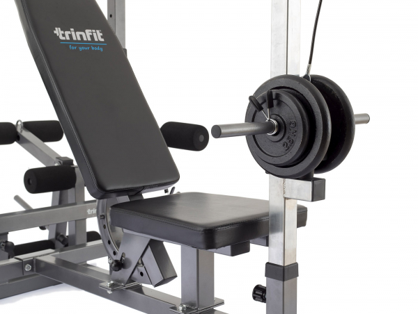 Posilovací lavice na bench press TRINFIT Bench FX5 detail kladka 1g