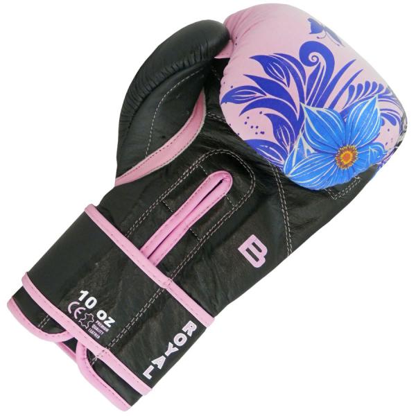 Boxerské rukavice 10 oz kůže Royal BAIL Flower vnitřek