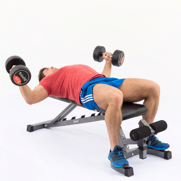 Posilovací lavice na bench press TRINFIT Vario LX6 cvik 06g