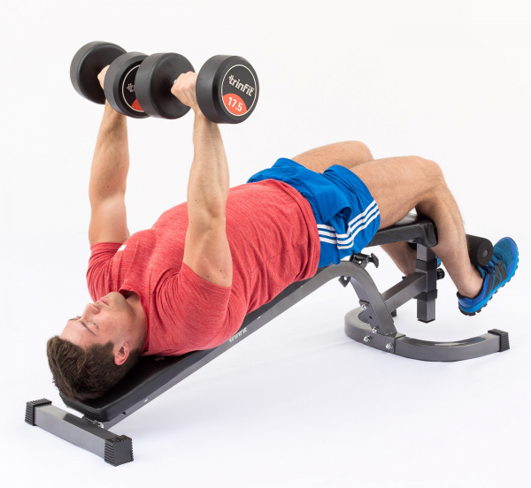 Posilovací lavice na bench press TRINFIT Vario LX6 cvik 10g