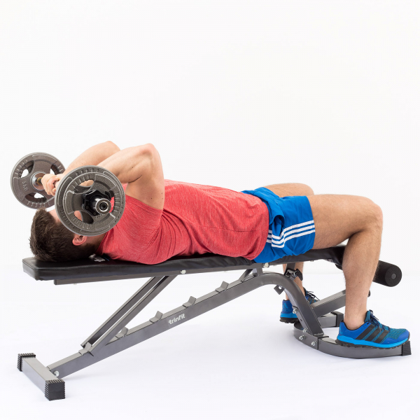 Posilovací lavice na bench press TRINFIT Vario LX6 cvik 17g