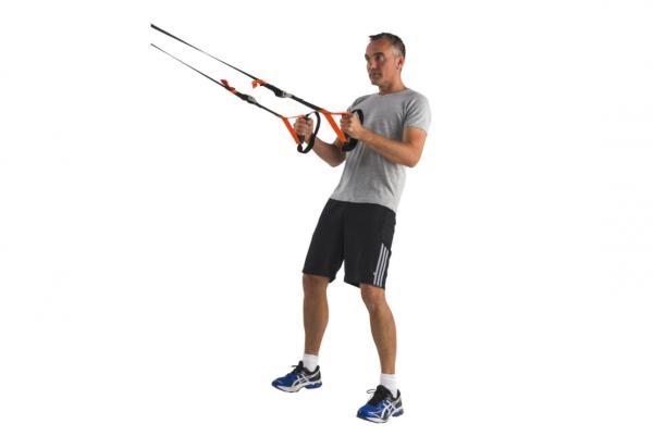 Závěsný posilovací systém TUNTURI Suspension Trainer workout 3
