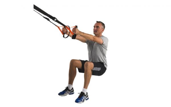 Závěsný posilovací systém TUNTURI Suspension Trainer workout 5