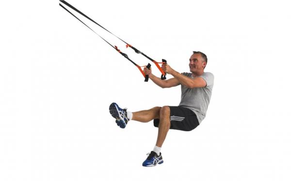 Závěsný posilovací systém TUNTURI Suspension Trainer workout 6