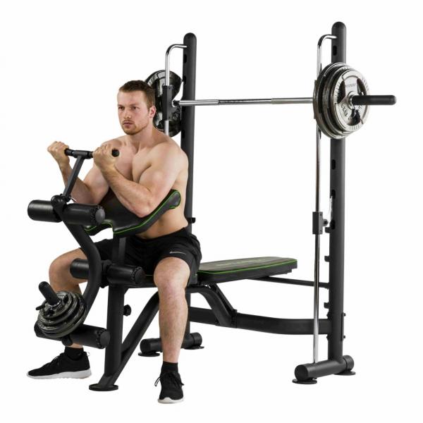 Posilovací lavice na bench press Tunturi SM60 Half Smithcvik 3g