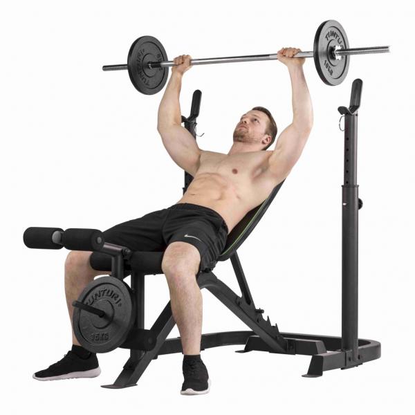 Posilovací lavice na bench press Tunturi WB50 Mid Width Weight Bench cvik 1g