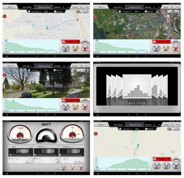 Eliptický trenažér Screenshoty iConsole+ pro Housefit MOTIO 80 iTrain