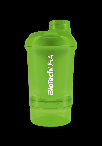 BIOTECH USA Shaker WAVE+ NANO 300 ml (+150 ml) zelený