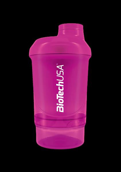 BIOTECH USA Shaker WAVE+ NANO 300 ml (+150 ml) růžový