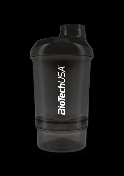 BIOTECH USA Shaker WAVE+ NANO 300 ml (+150 ml) černý