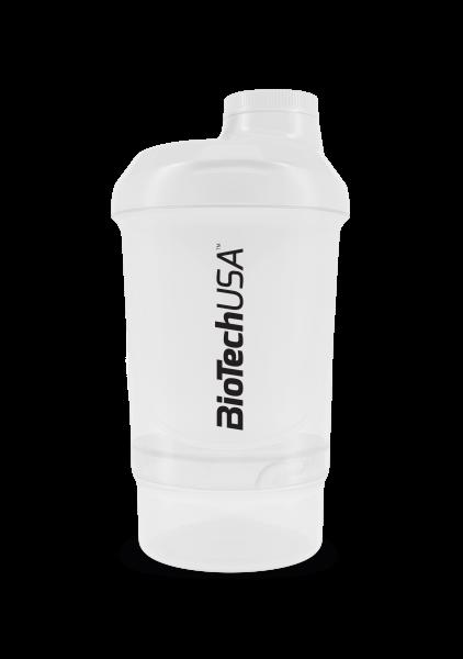 BIOTECH USA Shaker WAVE+ NANO 300 ml (+150 ml) průhledný