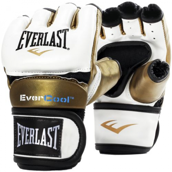 Graplingové rukavice Everstrike EVERLAST white gold