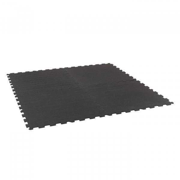 TRINFIT Sportovní gumová podlaha do fitness_puzzle_50_50_černá_5ag