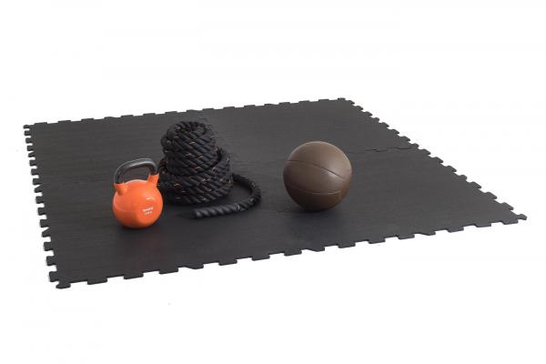 TRINFIT Sportovní gumová podlaha do fitness_puzzle_50_50_černá_5bg