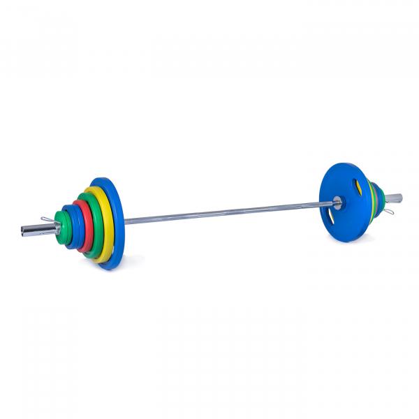 Olympijská činka 135 kg pogumovanág