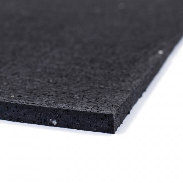 TRINFIT Gumová podložka pod činky 100 x 100 cm černá_detailg