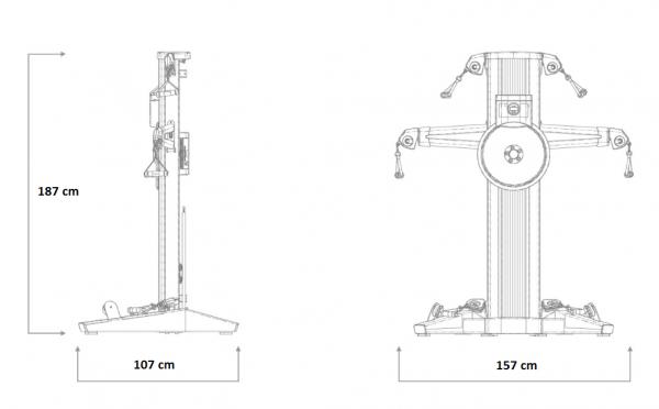 Posilovací věž  Nordictrack Fusion CST rozměry