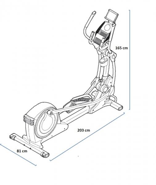 Eliptický trenažér Proform Smart Strider 495 CSE rozměry trenažeru
