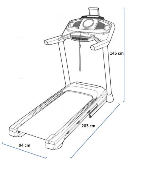 Běžecký pás Proform performance 600i rozměry trenažeru
