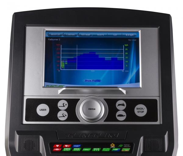 Běžecký pás Tunturi Platinum Treadmill 5HP počítač 2