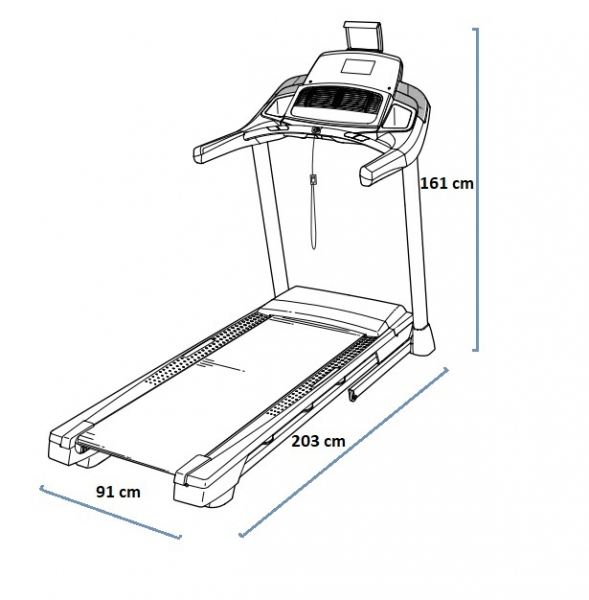 Běžecký pás Nordictrack T14.0 rozměry