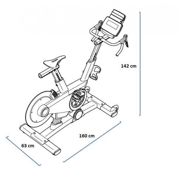 Cyklotrenažér Proform TDF 2.0 rozměry trenažéru
