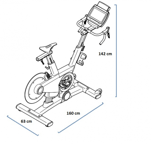 Proform TDF Pro 5.0 rozměry trenažéru