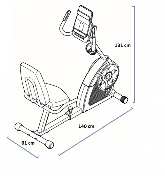 Rotoped Proform 310 CSX rozměry