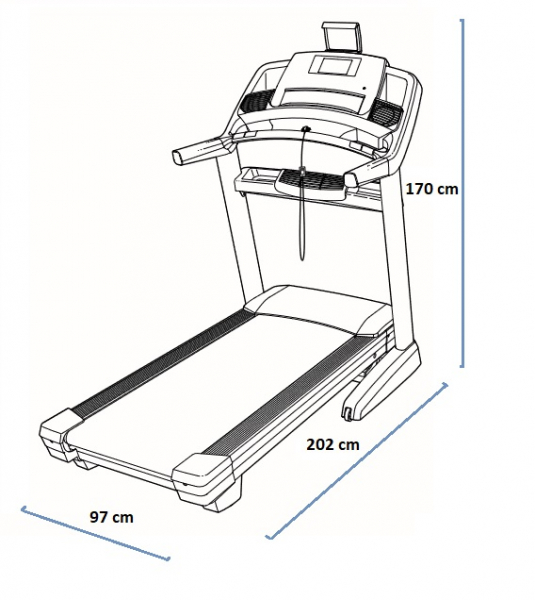 NORDICTRACK Commercial 1750 rozměry trenažéru