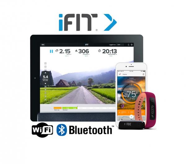 Eliptický trenažér tablet iFit + tel + VUE 2
