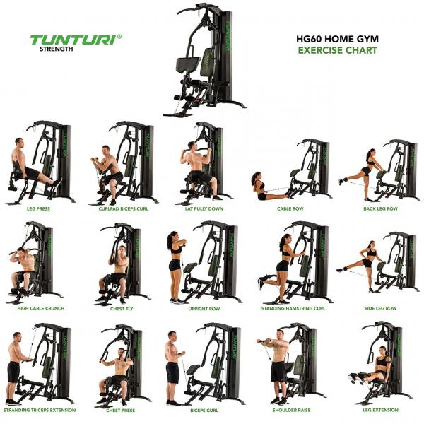 Posilovací věž  TUNTURI HG60 Home Gym
