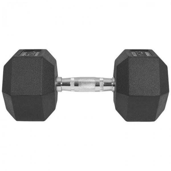 Jednoruční činka HEXA 17,5 kg čelní