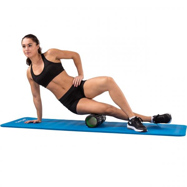 Masážní válec Foam roller 33 cm TUNTURI černo-zelený workout