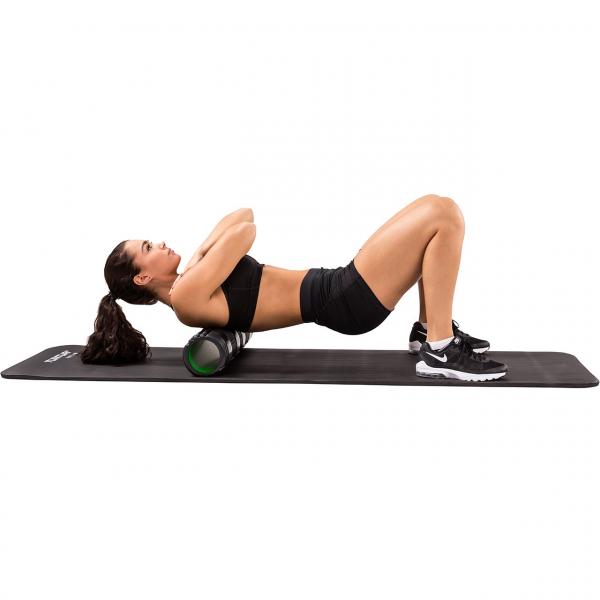 Masážní válec Foam roller 61 cm TUNTURI černo-zelený workout