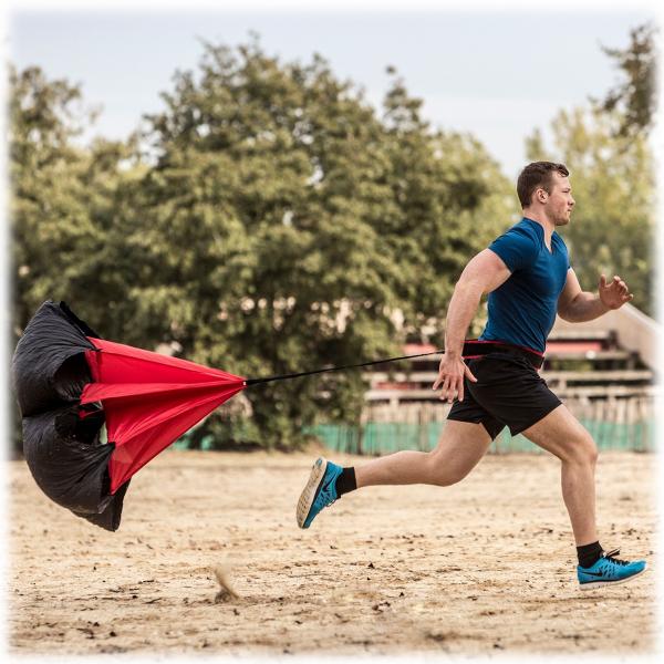 Odporový padák pro běh TUNTURI Speed parachute workout