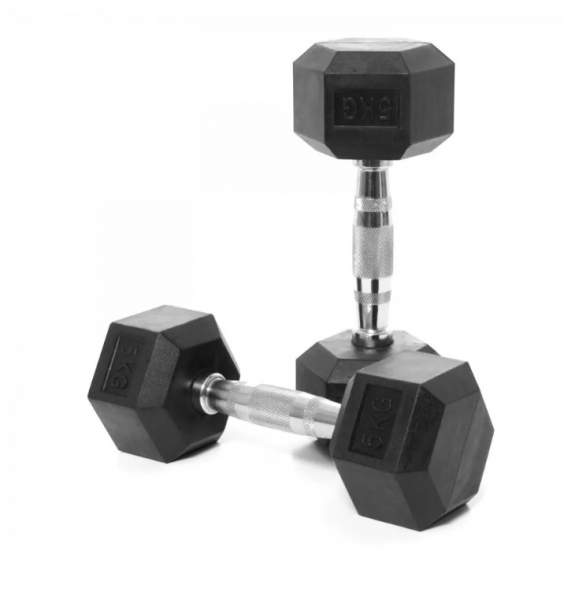 Jednoruční činka HEXA 5 kg