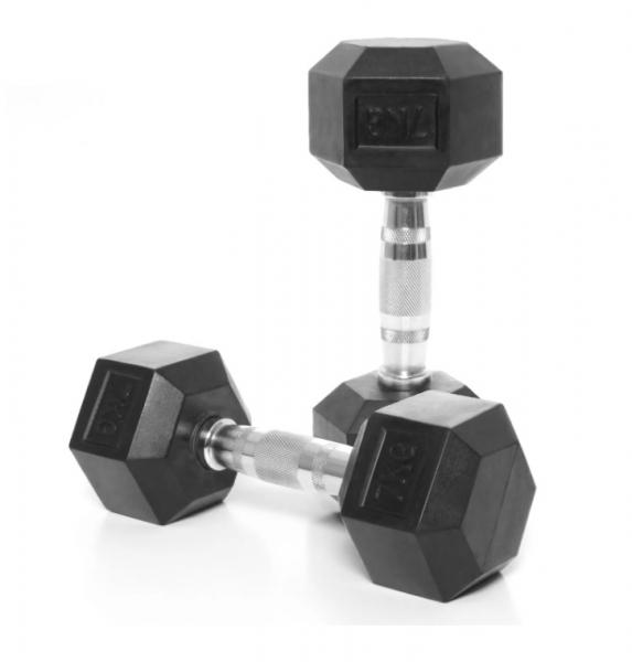 Jednoruční činka HEXA 7 kg