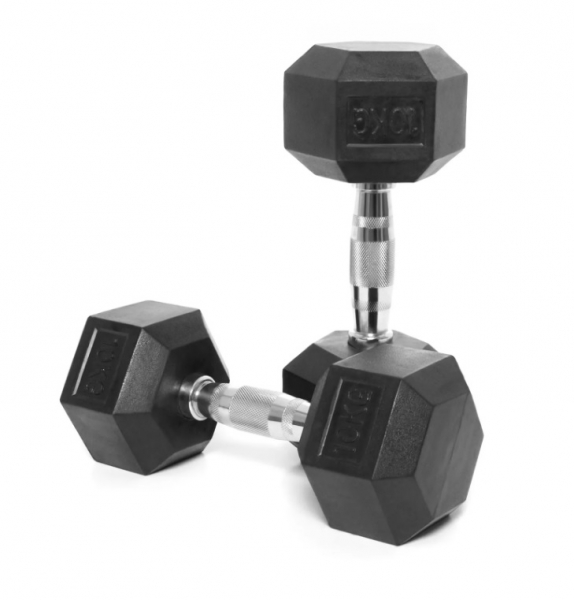 Jednoruční činka HEXA 10 kg