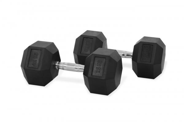 Jednoruční činka HEXA 25 kg pár