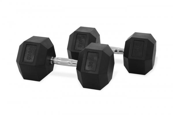 Jednoruční činka HEXA 30 kg pár