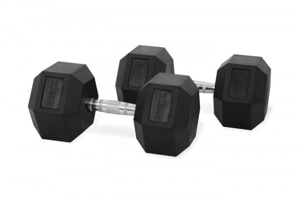 Jednoruční činka HEXA 32,5 kg pár