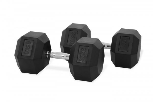 Jednoruční činka HEXA 35 kg pár