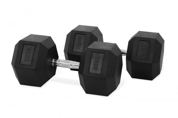 Jednoruční činka HEXA 40 kg pár