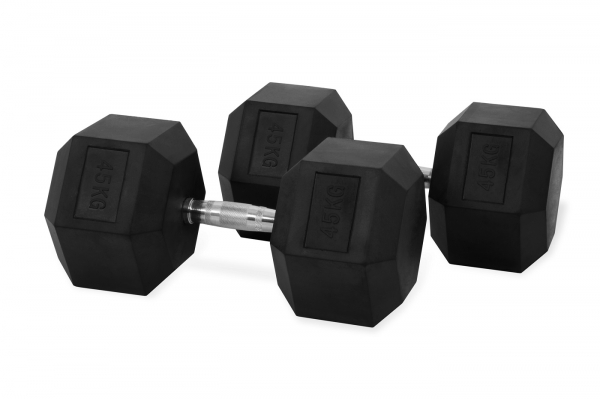 Jednoruční činka HEXA 45 kg pár